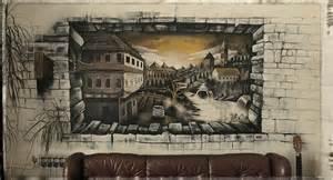 Wall Murals 3d bihac city in 3d wall mural by anikowski on deviantart