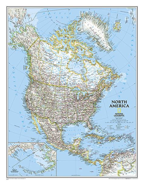 hawaii tubed national geographic reference map books america classic continents reference maps wall
