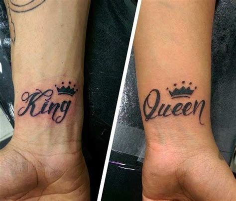tattoo couple goals 51 king and queen tattoos for couples tattoo wrist