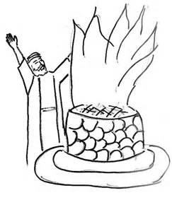 Prophet Elijah Clipart 49 Elijah And The Prophets Of Baal Coloring Page