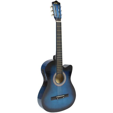 Electric Blue New electric acoustic guitar cutaway design with guitar