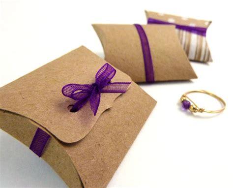 diy small gifts mini pillow boxes 25 diy kraft favor boxes 2 quot x 1 5 quot x