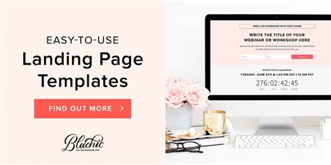 Landing Page Templates Bluchic Simple Landing Page Template