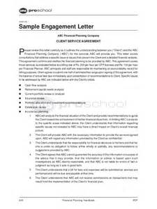Financial Planning Agreement Template by Engagement Letter With Services Agreement Engagement