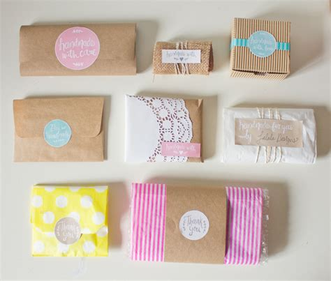 Handmade Goods Ideas - free printable labels to kick up your packaging handmade
