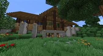 Awesome One Story House Plans minecraft survival house minecraft seeds pc xbox pe