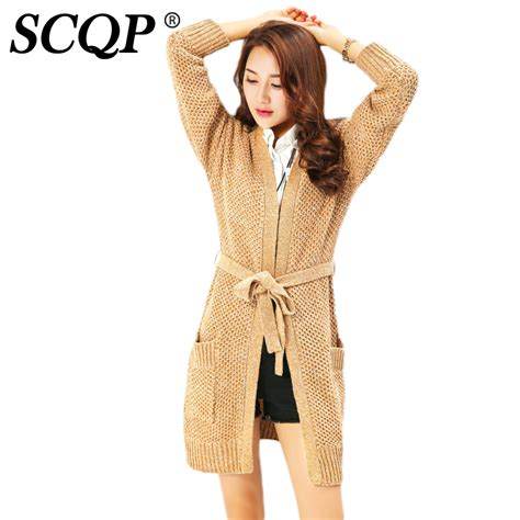 Fashion And Chocolate Womens Two by Scqp Bow Belt Cardigans Brown Casual Wear