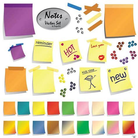 design notes sticky notes vector design