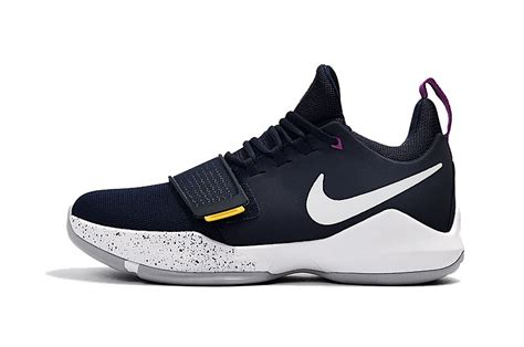 Sepatu Basket Nike Paul George Pg 1 Navy Yellow nike pg 1 shop nike basketball shoes