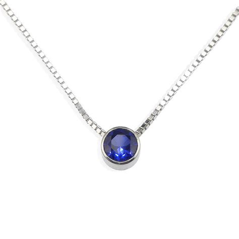 sapphire necklace september birthstone by lilia nash jewellery   notonthehighstreet.com