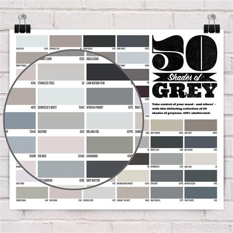 grey paint shades fifty shades of grey wall poster fresh design blog