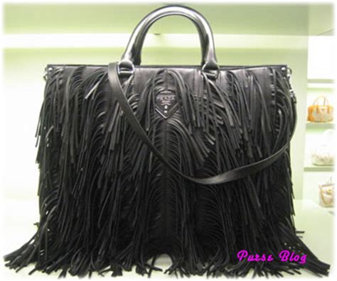 Prada Fall 2007 Bags by Beckham Prada Fringe Handbag Purseblog