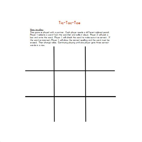 tic tac toe homework template essay writing for 7th class grand escalier spelling