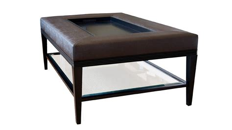 Coffee Table. Breathtaking Padded Coffee Table Designs: diy tufted ottoman from an old kithen
