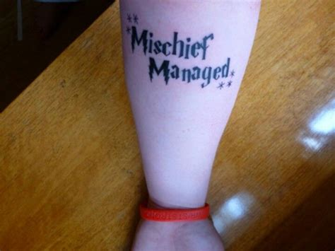 mischief managed love the font on this tats pinterest