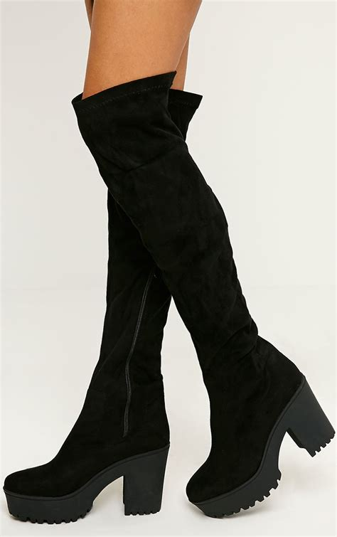 black the knee boots oasis fashion