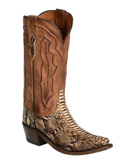 Lucchese Handcrafted 1883 - lucchese handcrafted 1883 backcut python boots