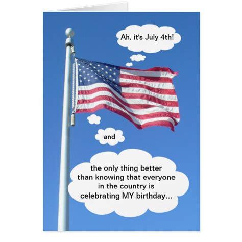Fourth July Birthday Cards Birthday On July 4th Greeting Cards Zazzle