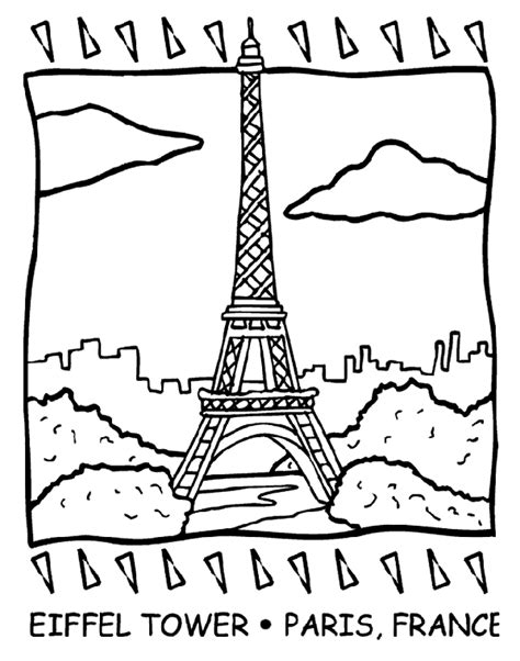 france eiffel tower coloring page eiffel tower coloring page crayola com