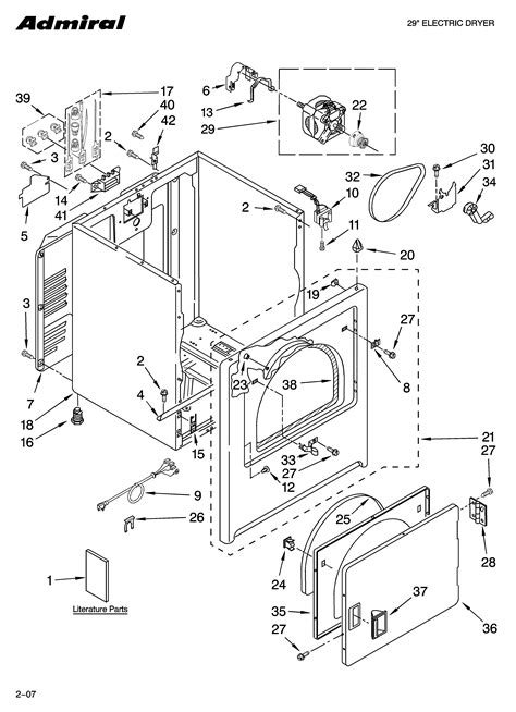 admiral dryer parts diagram admiral aed4475tq1 wiring diagram series and parallel