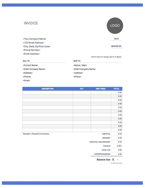 Itemized Bill Free Download From Invoice Simple Itemized Invoice Template Word