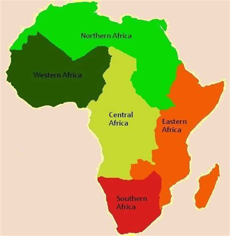 5 regions of africa map 17 best images about projects to try on