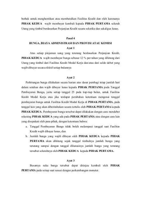 Perjanjian Penanaman Modal Dalam Wto perjanjian kredit modal kerja