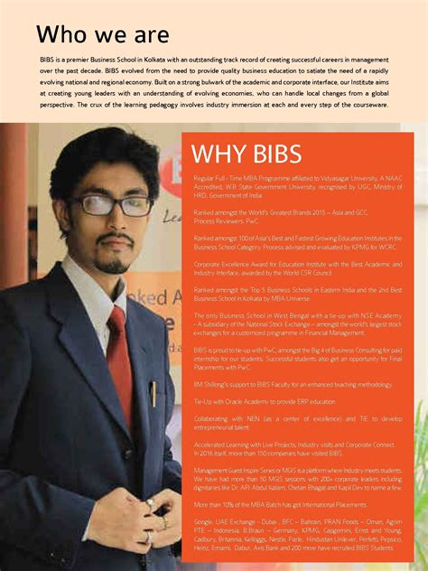 Of Iowa Pre Mba by Bengal Institute Of Business Studies Bibs Kolkata