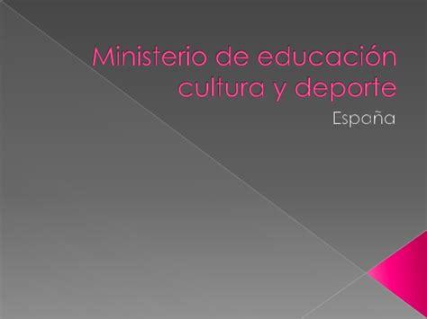 ministerio de educacin cultura y deporte portal del icaa ministerio de educacion cultura y deporte ministerio de