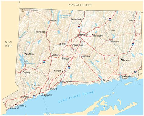 map of connecticut file map of connecticut na cropped png wikimedia commons