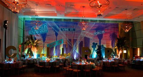 travel theme bar bat mitzvah party backdrop  hollywood