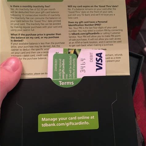 Td Bank Visa Gift Card - 1000 ideas about visa credit card application on pinterest credit card application