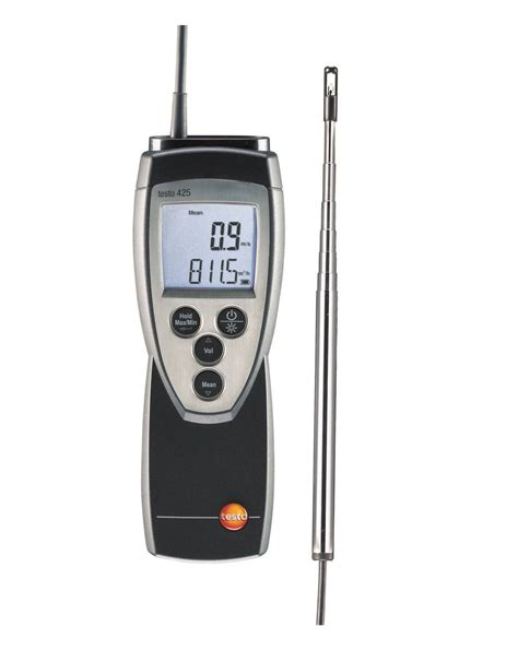 speed of sound testo testo 425 thermal anemometer with flow probe velocity
