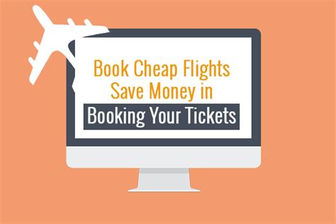 book cheap flights save money in booking your tickets