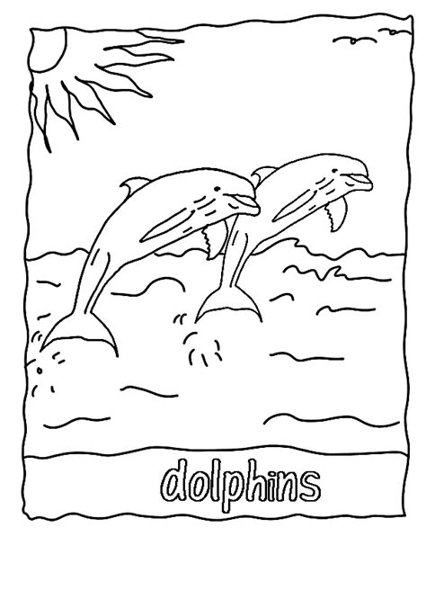 Winter The Dolphin Coloring Pages free printable dolphin coloring pages for