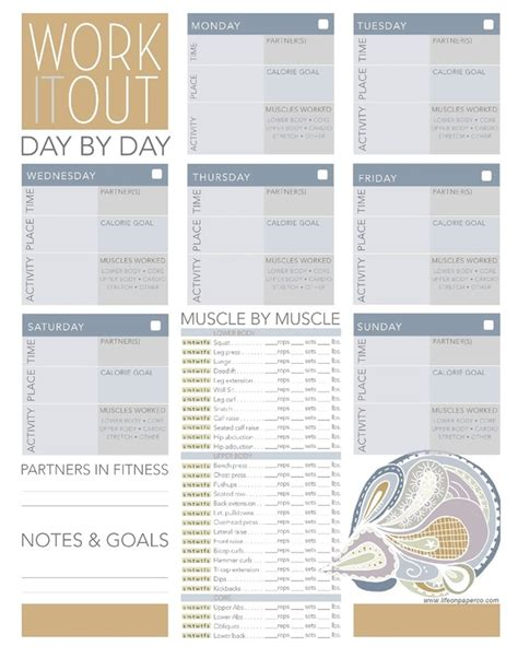 printable workout planner free daily workout planner printables pinterest