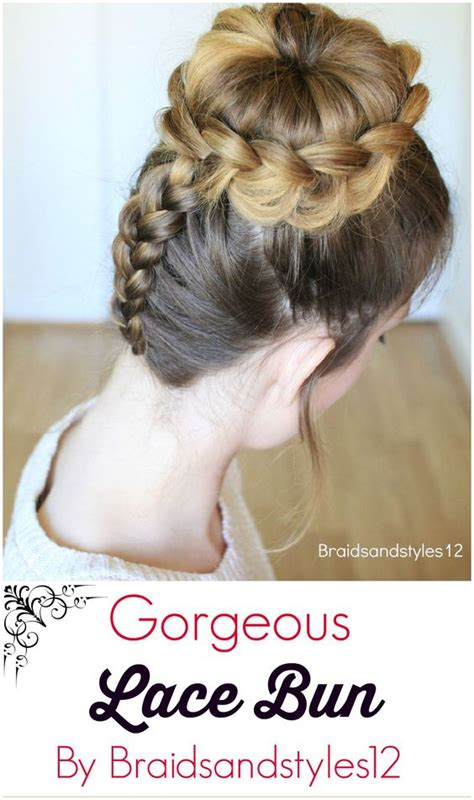 lace braided bun updo hairstyles lace updo and buns on