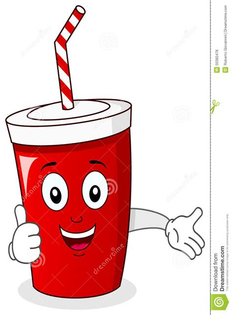 martini cup cartoon cheerful paper soda drink character stock vector image