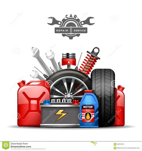 car service ad car service illustration vector illustration