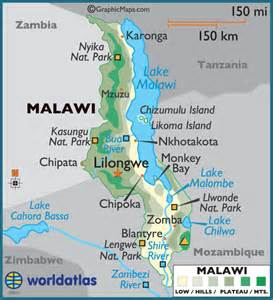 Malawi Africa Map by Malawi Large Color Map