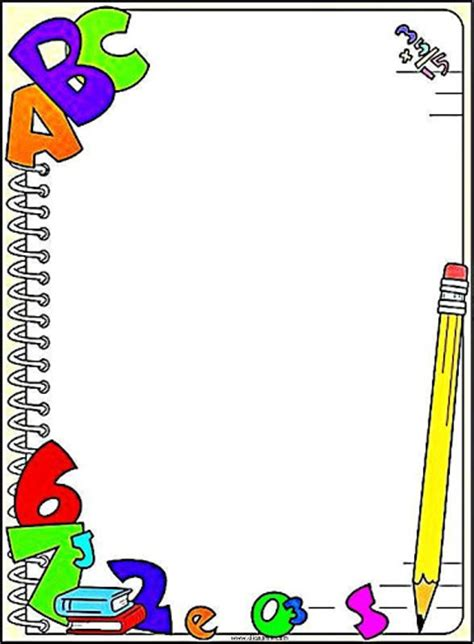 imagenes escolares coloridas pedag 243 giccos bordas coloridas para mensagens e textos