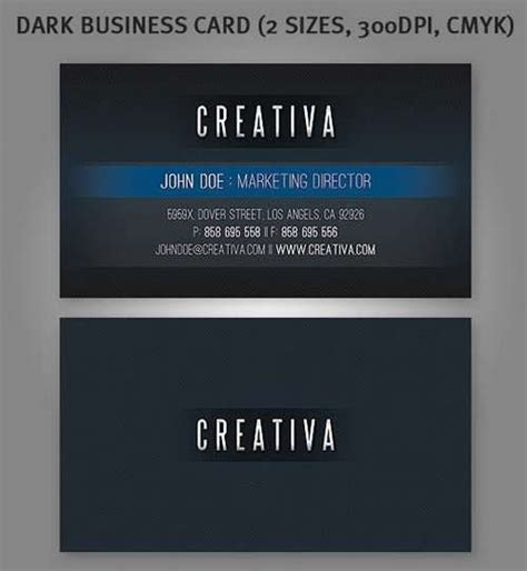 Totally Free Business Card Templates by 60 Absolutely Free And Black Business Card Templates