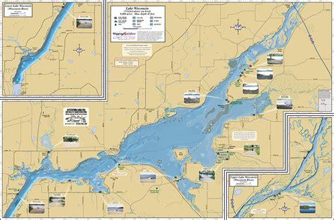 lake maps lake wisconsin fold map