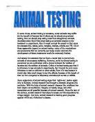 Animal Testing Argumentative Essay by Arguments For And Against Animal Testing I Disagree With K Archibalds Opinion Of Banning