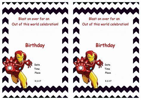 printable iron man invitations iron man birthday invitations birthday printable