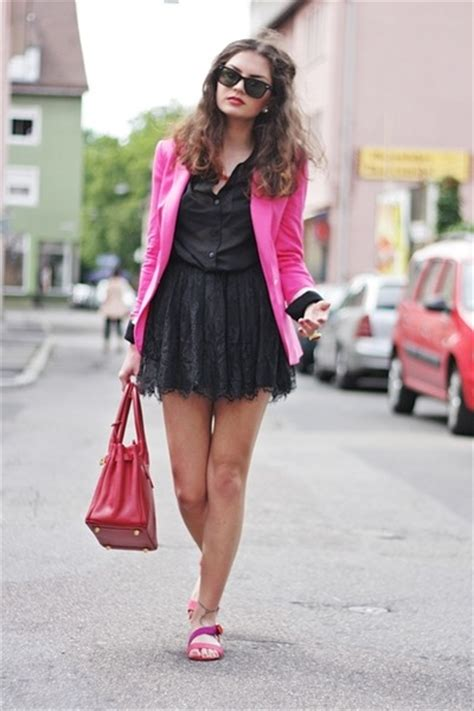 blackpink zara hot pink zara blazers red ebay bags black h m skirts