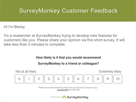 New Boost Completion Rates With Embedded Questions In Emails Surveymonkey Surveymonkey Nps Template