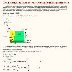 what is a voltage controlled resistor circuits pearltrees