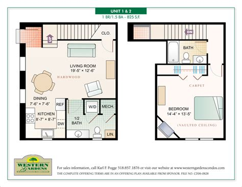 floor plan sles western gardens condominiums jill singer graphics