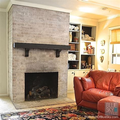 how to paint a brick fireplace fusion mineral paint